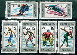 2527 Bulgaria 1976 Winter Olympic Games INNSBRUCK 76 ** MNH /Olympische Winterspiele Bulgarie Bulgarien Bulgarije - Nuevos