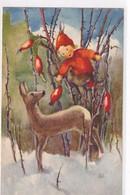 Reh & Hagenbutten - Sign. Mili Weber - 1936     (P-339-10221) - Altre Illustrazioni