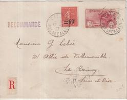 """FRANCE : REC . """" CALAIS """" . A 1F50 . POUR LE RAINCY ; 1927 . - Storia Postale"""