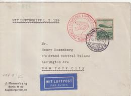 "ALLEMAGNE : PA . ZEPPELIN LZ 127 . "" FRANCFORT "" . POUR NEW - YORK  . 1936 . - Storia Postale"