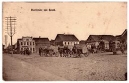 LATVIA.LETTLAND BAUSKA BAUSKE BAUSK MARKTPLATZ PC 1916 - Latvia