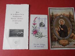 3 Images La Louvesc 07 St Regis Therese Couderc Avec Morceau De Vetement Relique - Images Religieuses
