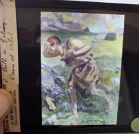 Plaque De Verre Lanterne Magique Couleurs - Caïn Et Abel - Bible De Nelson - Maison De La Bonne Presse - BE - Glasdias