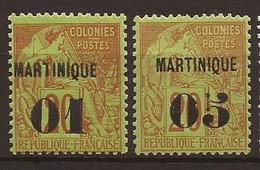 MARTINIQUE - 1888 - N° 3 Et 4 NEUF XX MNH (N° 3 Signé Roumet) - Valeur 72€ - Unused Stamps