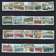 BUSES   - MALTA - 2011- BUSES SET OF 20  MINT NEVER HINGED  SG CAT £59 - Bussen