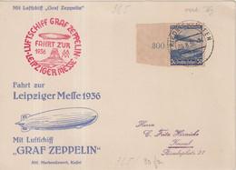 "ALLEMAGNE : PA . ZEPPELIN  . "" LEIPZIGER MESSE "" . 1936 . - Briefe U. Dokumente"