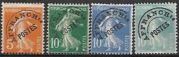 FRANCE    -     Préoblitéré   -   1922  -  Y&T N° 50 à 52 Oblitérés. - 1893-1947