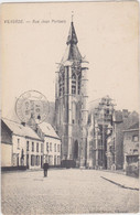 Vilvoorde - Jan Portaelsstraat (met Zicht Op Kerk, Zwart-wit) (gelopen Kaart Met Zegel) - Vilvoorde