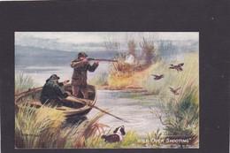 Dog Card -   Wild Duck Shooting.    Artist Drawn.   R Tuck. - Perros