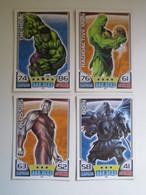 2 Cartes 2011 Topps Marvel Universe HERO ATTAX HERO - RADIOACTIVE MAN - THE HULK - ODIN - COLOSSUS - Marvel