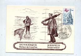 Carte Cachet Dunkerque  Congres  Vue Peche Crevette - Cachets Commémoratifs