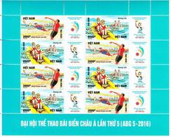 Vietnam 2517/18 Et Bf 152 Jeux Asiatiques De Plage, Aviron, Beach Volley - Sin Clasificación