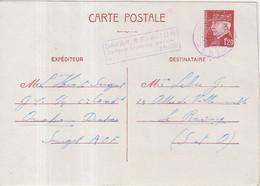 """FRANCE : CARTE INTERZONES . 1F20 . TYPE PASTEUR . """" DAKAR RF AVION 3F50 """" . 1942 . - Cartoline Postali E Su Commissione Privata TSC (ante 1995)"""