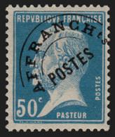 Préoblitérés N°68, Pasteur 50c Bleu, Neuf * - Signé CALVES - TB - 1953-1960
