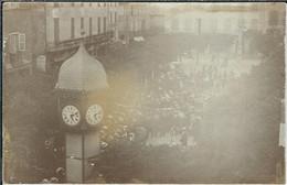 LOZERE : Marvejols : Rassemblement Sur La Place Thiers, Rare Carte-Photo... - Marvejols