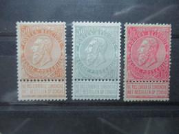 Belgium Nr 62, 63 & 64 MLH See Scans (6) - 1893-1900 Thin Beard