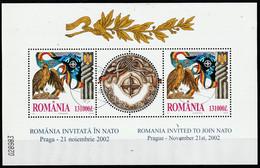 2002 - La Roumanie Invitée Au N.A.T.O. Mi No Block 325 - Gebraucht