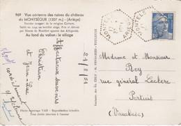 MONTELS (Ariège) TAD Type F 7  / 1951 - Matasellos Manuales