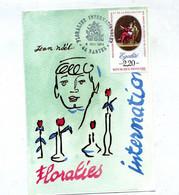 Carte Cachet Nantes Floralie 1989 - Cachets Commémoratifs