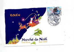Carte Cachet Rouen Marche De Noel - Cachets Commémoratifs