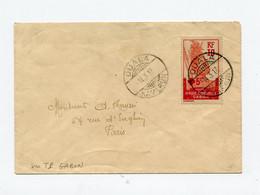 !!! TIMBRE DU GABON SUR LETTRE DE DOUALA DE 1917 POUR PARIS - Covers & Documents