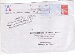 Enveloppe Prêt-à-poster TSC Timbré Sur Commande TVP LUQUET élection Chambres Des Métiers 1999 BASTIA CORSE - Prêts-à-poster:  Autres (1995-...)