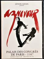 CHARLES AZNAVOUR - Palais Des Congrès De Paris - Concert En Public 1987 - Aznavour Chante 20 Chansons . - Concerto E Musica