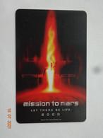 CINECARTE CINE CARD THAÏLANDE BANDE MAGNÉTIQUE CINÉMA THX MISSION TO MARS - Cinema