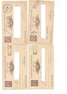 4135) Intero Postale 10c Umberto 1882-84 4 Da PACECO Annullo CASSETTE POSTALI SULLE FERROVIE - Interi Postali