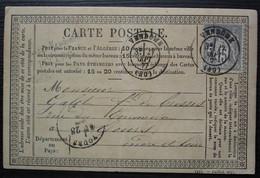 Vendôme 1877 Carte Précurseur Avec Cachet Privé Lecubin, Pour Tours - 1877-1920: Période Semi Moderne