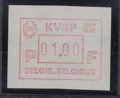 Belgien FRAMA-ATM Sonderausgabe KVBP 1987 Von VS **  - Postage Labels