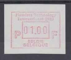 Belgien FRAMA-ATM Sonderausgabe Flanders Technology International 1989 ** Von VS - Postage Labels