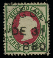 Heligoland 1875 QV 1 1/2P / 10pf Used With 1880 Postmark, Very Good Condition, MiNr. 14a, Rather Uncommon This Fine - Helgoland