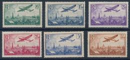 EC-522: FRANCE: Lot Avec  PA N°8/13* (* Propres) - 1927-1959 Mint/hinged
