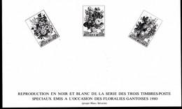 Belgique Feuillets N/B    ZNEP 13  Floralies Gantoises - Zwarte/witte Blaadjes