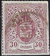 Luxembourg - Luxemburg - Timbres  1865  Armoires    30C.  Michel 21     ° VC.100,- - 1859-1880 Wappen & Heraldik