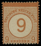 Germany 1874 9 On 9kr Orange-brown MH * Orig. Gum, Perfect Quality And Very Fresh, MiNr. 30, Cat. €110 - Ungebraucht