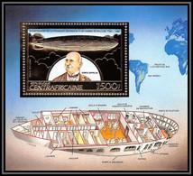 85968/ N°264 A Zeppelin Ballon Ballon 1983 Espace Space Centrafricaine OR Gold ** MNH - Zeppelin