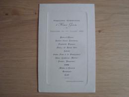 MENU DEJEUNER DU 1 JUILLET 1908 HOTEL DE FRANCE CHATTEUX - Menus