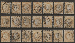 Cérès N°55 : Plaquette De 21 Timbres Pour étude, Scans Recto-verso. - 1871-1875 Ceres