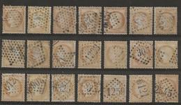 Cérès N°59 : Plaquette De 21 Timbres Pour étude, Scans Recto-verso. - 1871-1875 Ceres