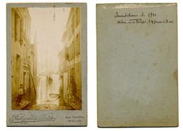 Photo Inondations De 1910 à MELUN (77) / Date Et Située / Non CPA - Melun