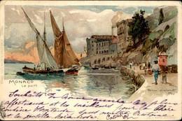 MONACO - Carte Postale Du Port Par Un Illustrateur  - L 101402 - Harbor