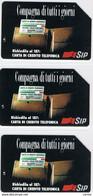 3  USATE   £.5.000 + £.10.000 + £.15.000  -  31.12.1995  A.A. COMPAGNA  DI  TUTTI  I  GIORNI  -  TECHNICARD  -  S. CPL. - Public Practical Advertising