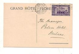 4253) SAN FRANCESCO 40c Isolato 1926 FIRENZE CARTOLINA POSTALE INTERNO - Storia Postale