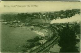 CHILE - RECREO - ENTRE VALPARAISO Y VINA DEL MAR - TRAIN - 1910s (11318) - Chile