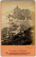CDV Circa 1880. Montanvert Et Aiguille Du Dru Près Chamonix Par Lamy. Suisse Et Savoie. - Old (before 1900)