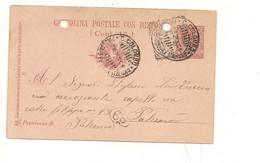 4264) Annullo 1906 CRISTOFORO COLOMBO PIROSCAFO POSTALE ITALIANO  Fori ARCHIVIO - Storia Postale