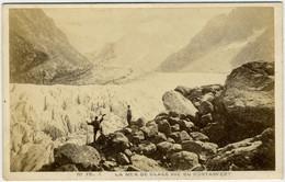 CDV Circa 1880. La Mer De Glace Vue Du Montanvert Par Garcin à Genève. Chamonix. - Old (before 1900)