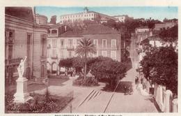 7829 Cpa Philippeville - Théatre Et Rue Nationale - Altre Città